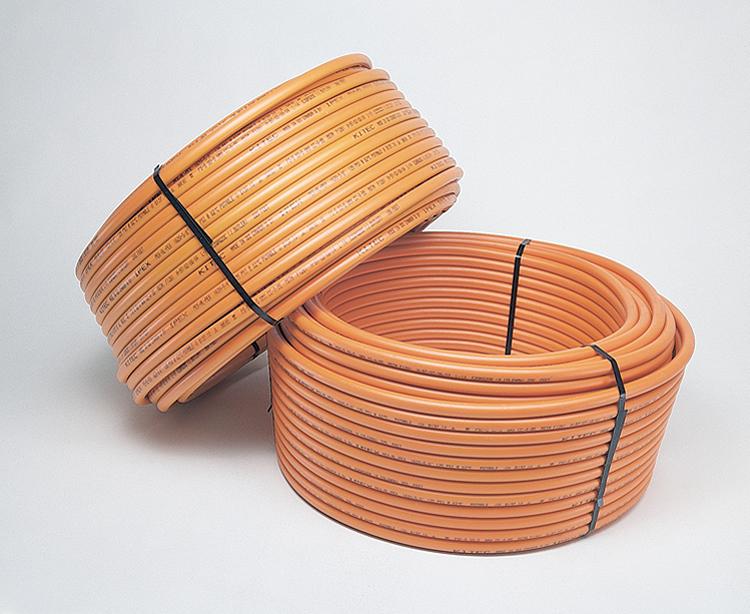 Orange (hot water) Kitec plumbing pipe