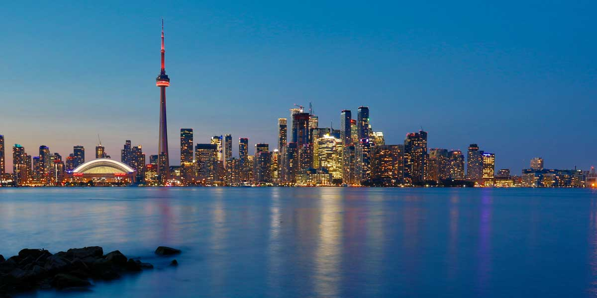 View of Toronto from the lake, which has hard water